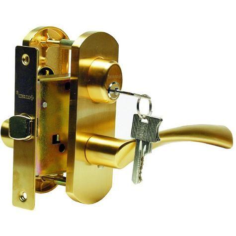 Дверная ручка с замком для межкомнатных дверей купить